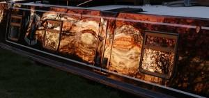 Wigan sunset Boat