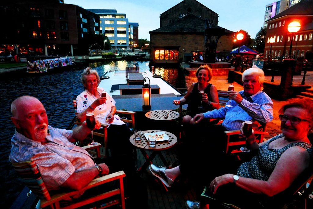 Granary Wharf Leeds for champagne cocktails and canapes