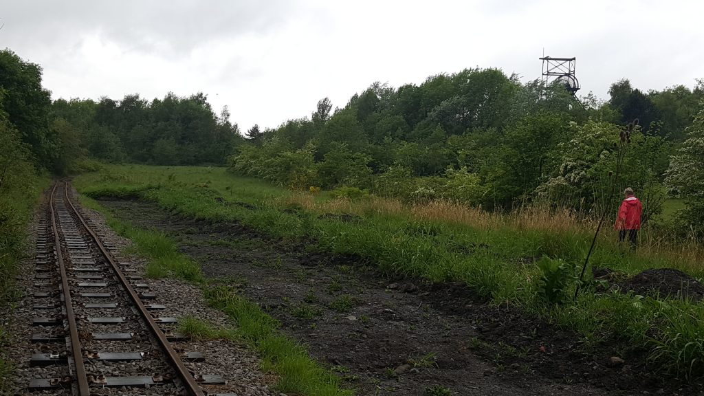 Astley Green pit head and narrow gauge track