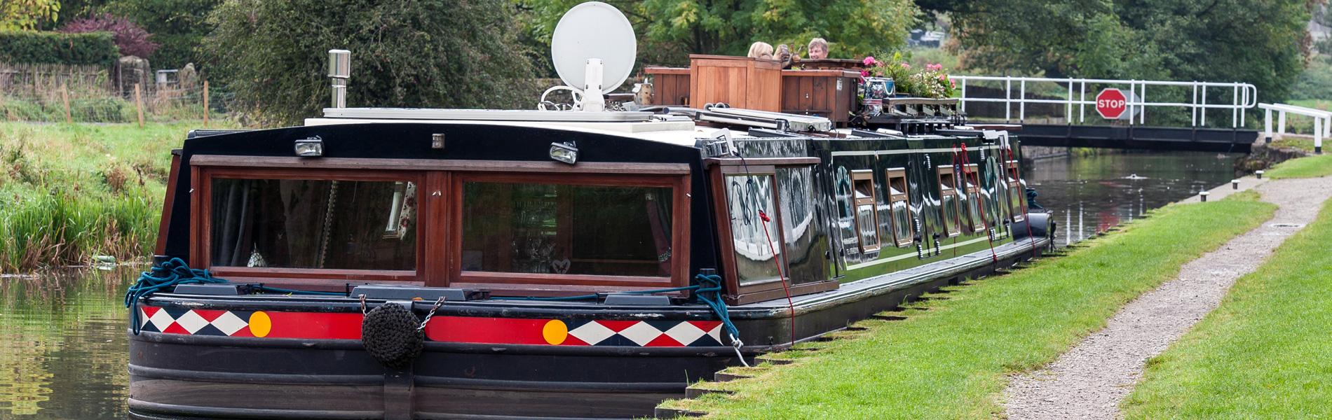 Inside a luxury river boat hotel