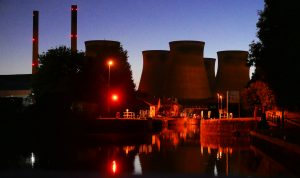 Ferrybridge at night. Aire and Calder navigation