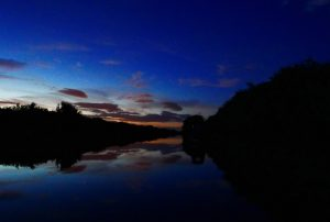 New Junction Canal after dark