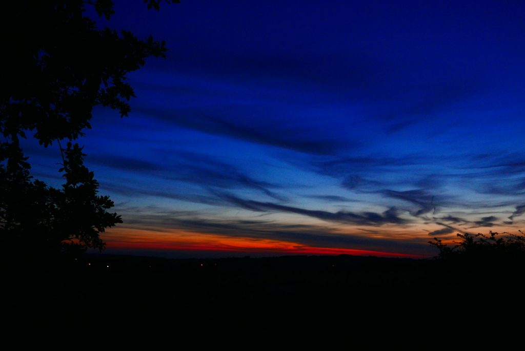 Sunset near Wigan Leeds Liverpool