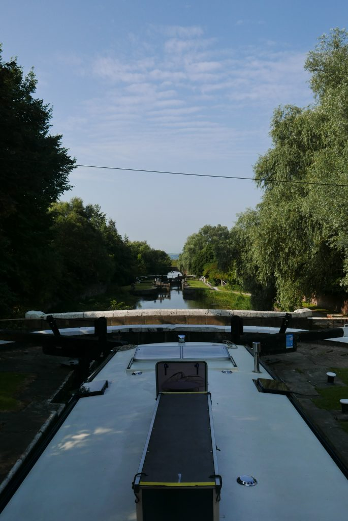 View from lock one at the top of Wigan flight