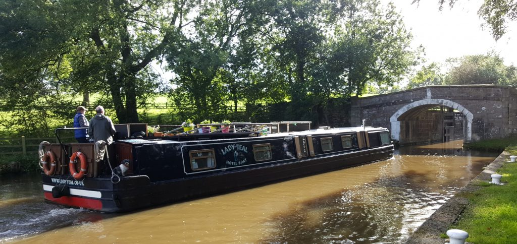 LAdy Teal passing through Bank Newton locks on the Leeds Liverpool for the last time in our 2016 season