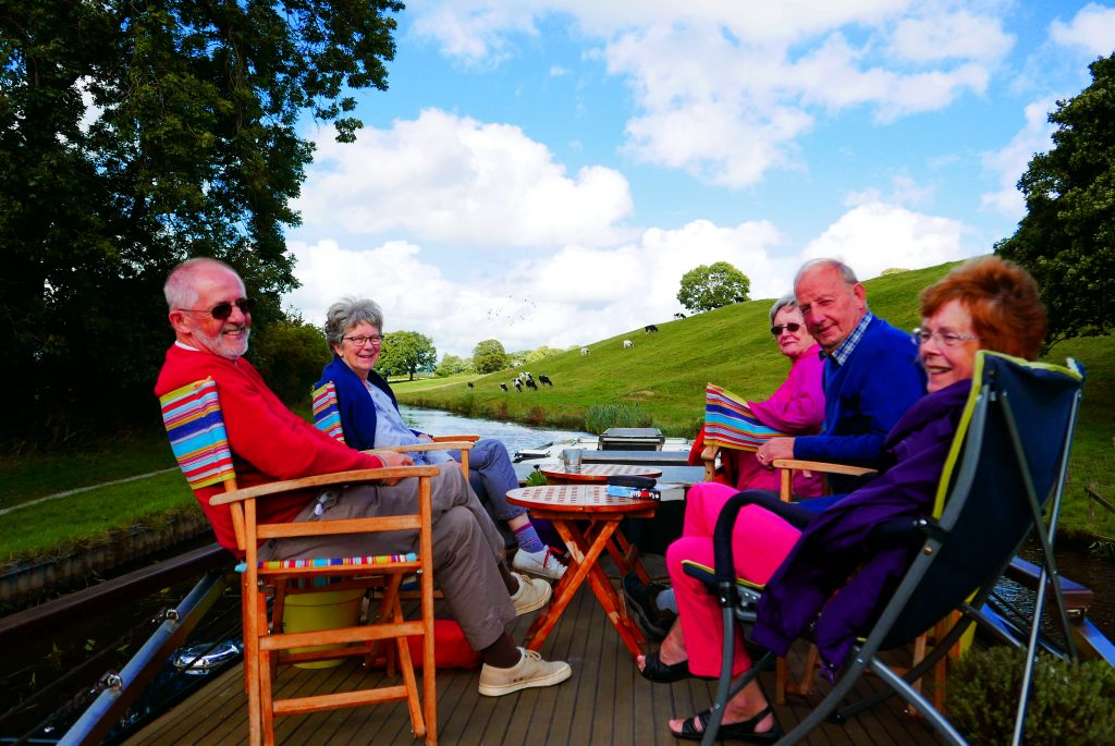 Guests on the sundeck at Riley Green