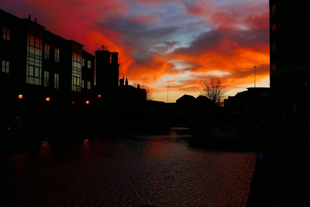 Granary Wharf Leeds Sunset