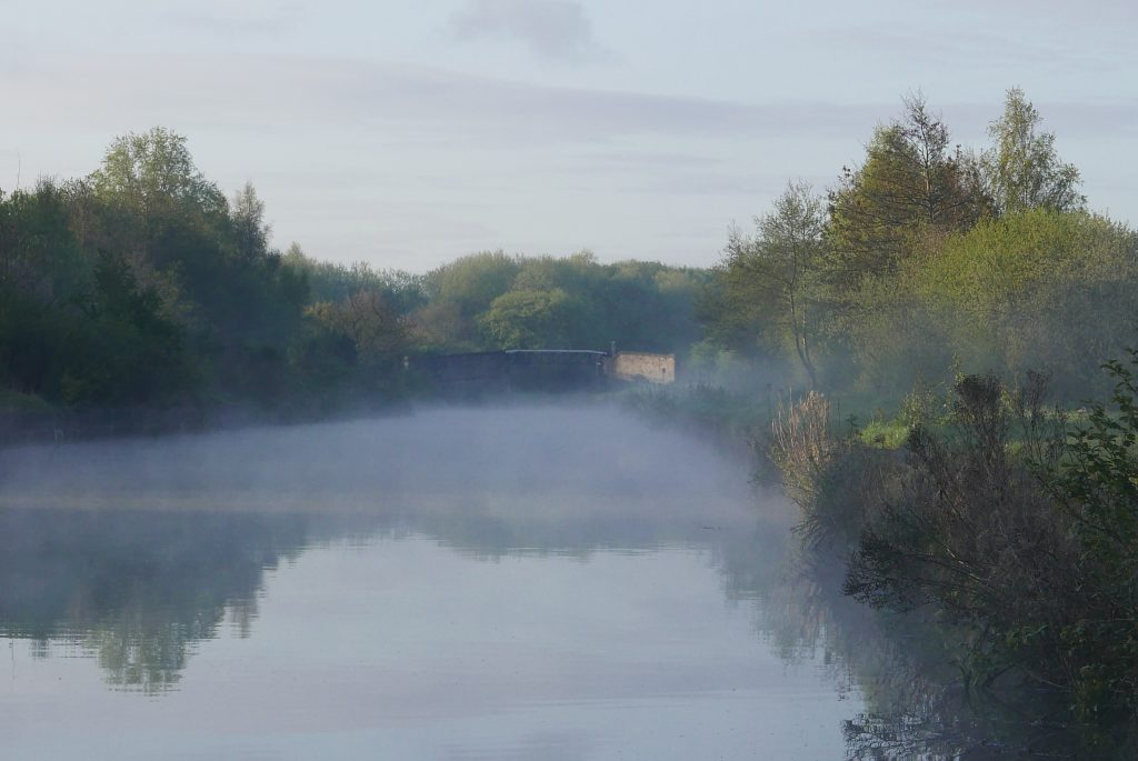 Mist over the Leeds Liverpool Leigh Branch