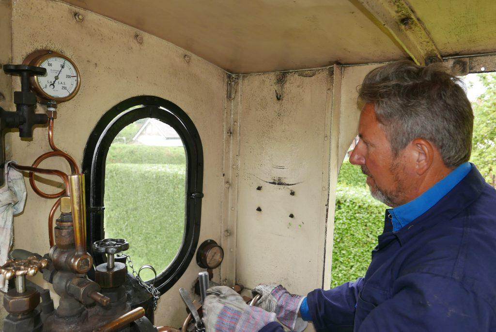 West Lancs Railway Utrillas Nick Driving steam train