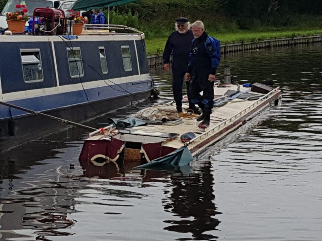 Sunken boat Riley Green